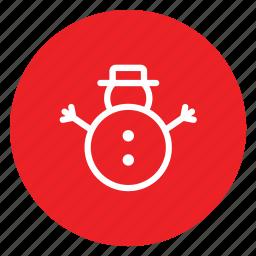 christmas, flakes, santa, snowman, toy icon