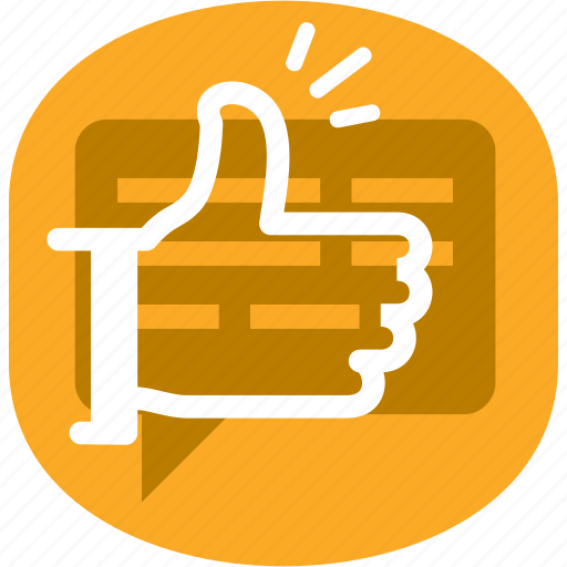 message, thumb, up icon