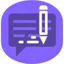 message, text, write icon