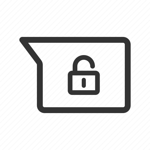 chat, message, messenger, unencrypted, unlocked, unsecured icon