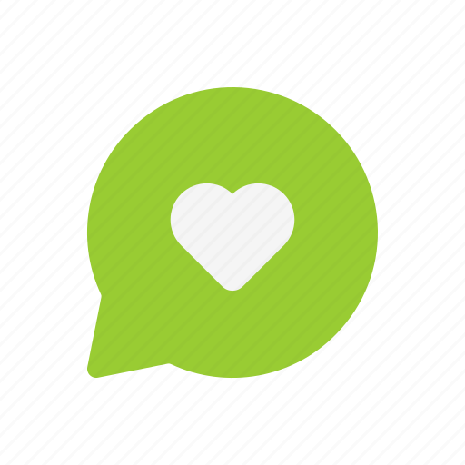 chat, comment, favorite, heart, love, message icon