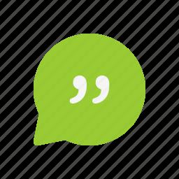 chat, comment, conversation, dialogue, message, quote icon