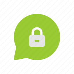 chat, encrypted, locked, message, password, secret, secured icon