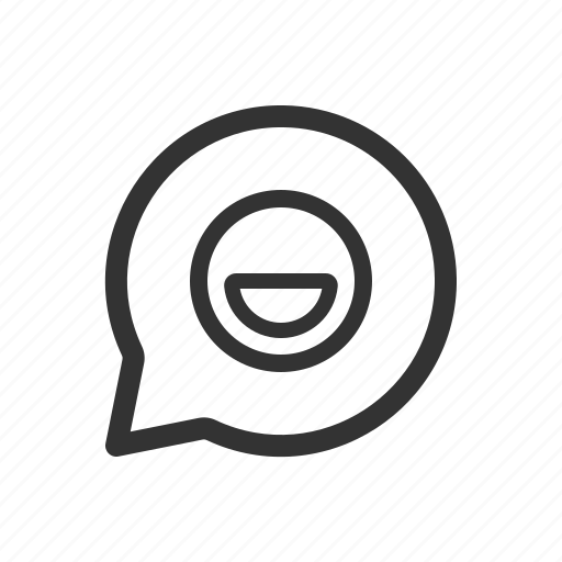 chat, emoji, emoticon, message, messenger, smiley icon