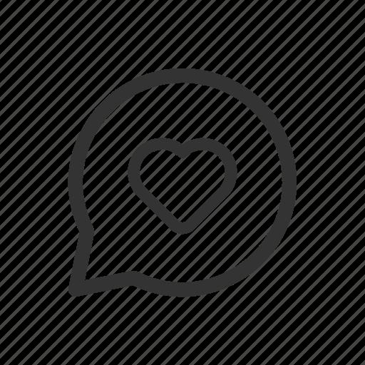 chat, heart, love, message, messenger, romance icon