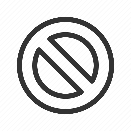block, forbidden, sign, stop icon