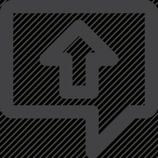 Comment, message, review, upload, uploadload icon - Download on Iconfinder