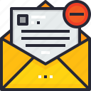 delete, email, lettering.communication, mail, message icon