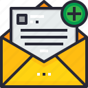 e, email, lettering.communication, mail, message, new icon