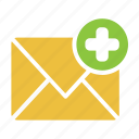 add, create, message, email icon