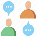 boys, bubbles, chat, communications, conversation, men, messages, talk, trade, users icon