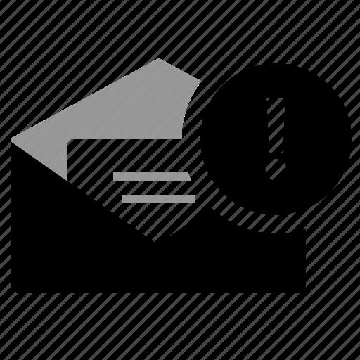 High priority, low priority, medium priority, open envelop ... Medium Priority Icon