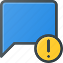 attention, bubble, chat, message icon