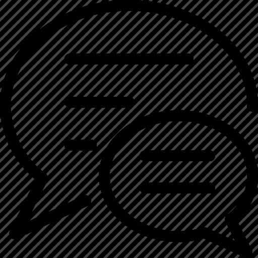 bubble, chat, conversation, message, speech, text icon