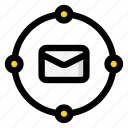 email, mail, service, system icon