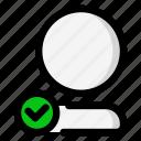 account, check mark, user, verified