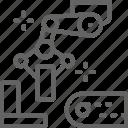 arm, line, manipulator, metal, metallurgy, part, robotic