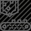 arm, belt, conveyor, metallurgy, production, robotic, sorting icon