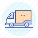 deliver, delivery, delivery truck, lorry, truck, van, vehicle icon