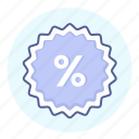 badge, discount, discount tag, label, percent, percent sign, tag icon
