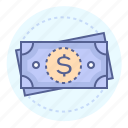 bills, cash, dollar, dollar bills, dollar sign, finance, money icon