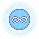circled, endless, endless symbol, infinity, infinity sign, looping icon