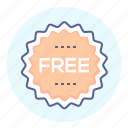 free of charge, freebie, badge, tag, free, label