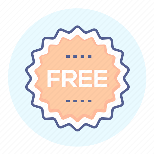 badge, free, free of charge, freebie, label, tag icon