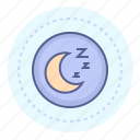 hibernation, moon, night, night mode, sleep, sleep mode icon