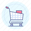 bought items, buying, cart, purchases, purchasing, shopping, shopping cart icon