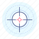 aim, aiming, goal, shooting mark, target, tee icon