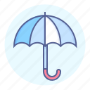 keep dry, protection, raining, umbrella, waterproof, weather icon
