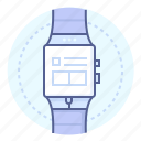 clock, digital watch, electronic, smart watch, technology, time, watches icon