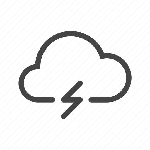 cloud, forecast, lightning, meteo, rain, tunder, weather icon