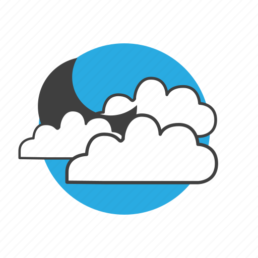 climate, cloud, clouds, cloudy, forecast, meteorology, moon, nature, night, sky, weather icon