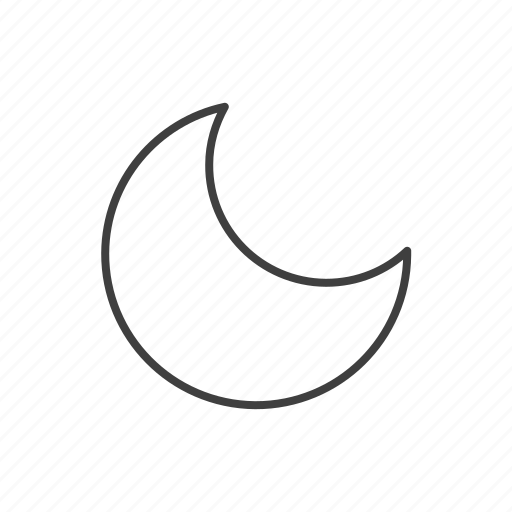 climate, forecast, meteorology, moon, night, weather icon