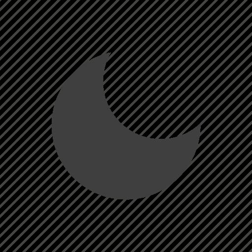 forecast, meteorology, moon, night, weather icon