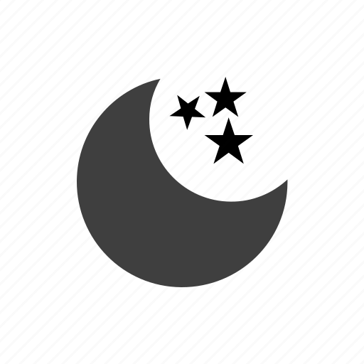 climate, forecast, meteorology, moon, nature, night, sky, stars, storm, temperature, thermometer, weather icon