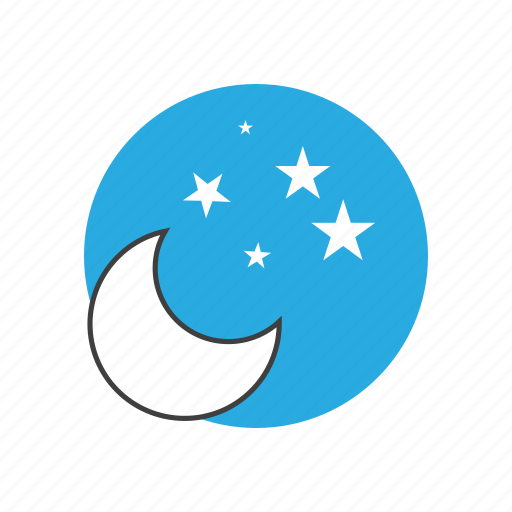 clearsky, climate, cloudy, forecast, meteorology, moon, nature, night, sky, stars, temperature, weather icon