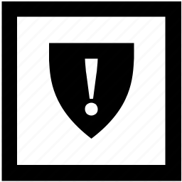 antivirus, attention, protect, safety, shield, virus, warning icon