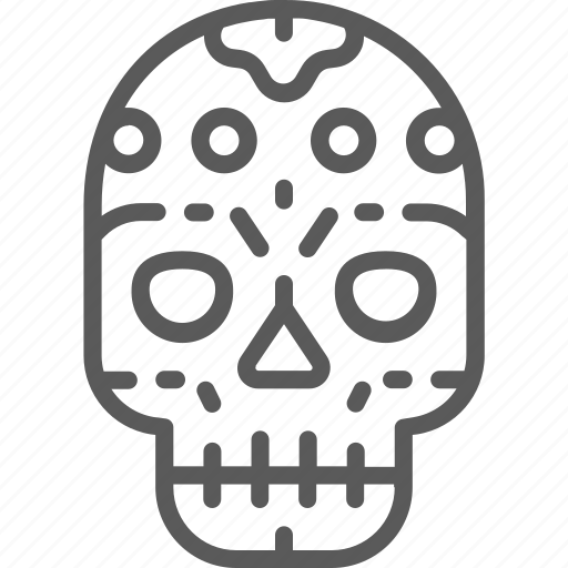 calavera, day, mask, mexican, muerte, santa, skull icon