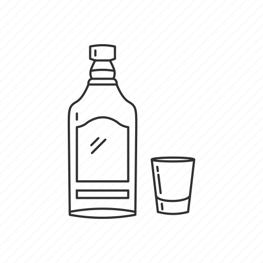 alcohol, beverage, bottle, drink, glass, liquor, tequilla icon