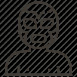 luchador, mask, mexico, wrestler icon
