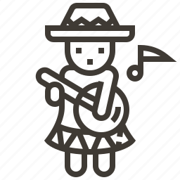 avatar, guitar, guitar player, music icon