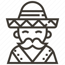 avatar, hat, man, sombrero icon