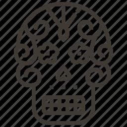 bone, mexico, skull, sugar skull icon