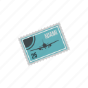 grunge, insignia, label, miami, stamp, state, vintage icon
