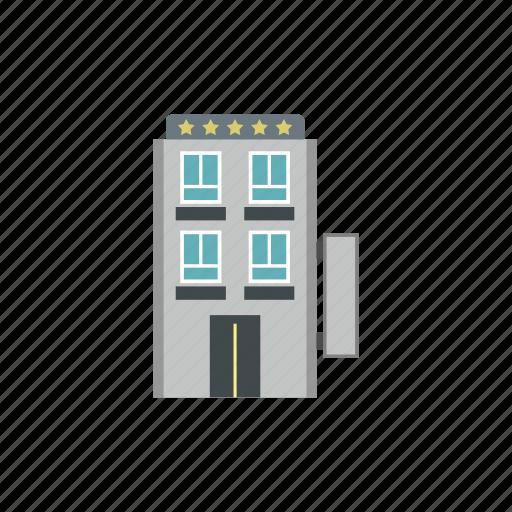 apartment, building, five, hotel, miami, office, star icon