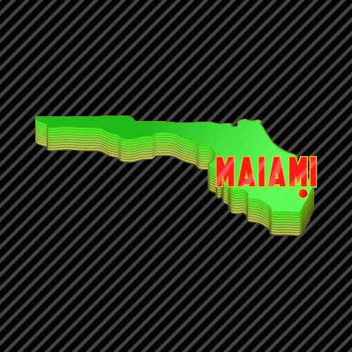 'Miami icons set, cartoon style' by Ivan Ryabokon on