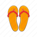 cartoon, fashion, flips, flops, shoe, sign, summer icon